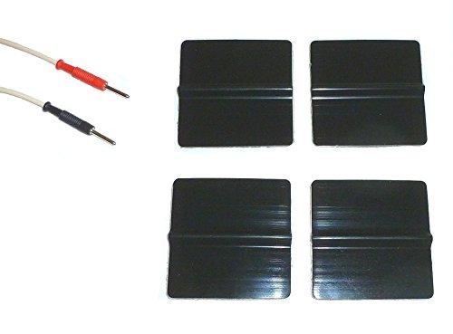 4Elektroden Silikon Aufkleber regenerierbar Wiederverwendbare Pre Gellati Patch Gel quadratisch 5x 5cm Stecker tesmed Globus