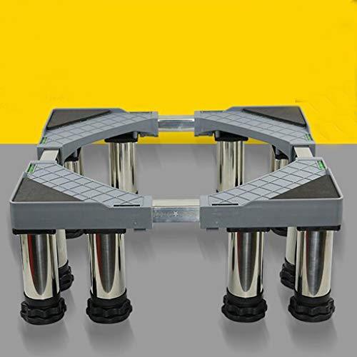 IVNGRI Kühlschrank Sockel Trocknerfester Trocknerfuß aus rostfreiem Stahl mit 12 Fuß Fuß aus Metall (Size : H24-27cm) -