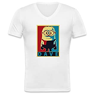 Dave Unisex V-neck T-shirt XX-Large