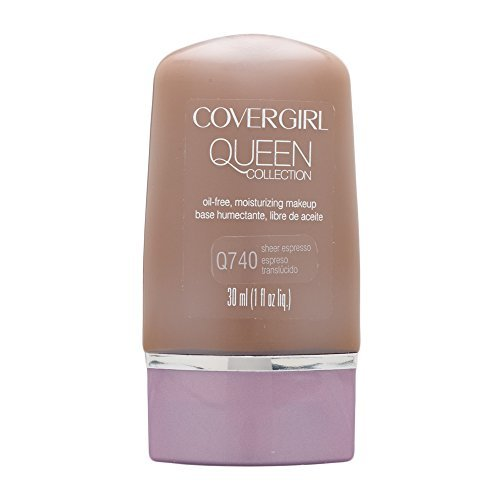 Covergirl Queen Collection (CoverGirl Queen Collection Liquid Makeup Foundation, Sheer Espresso 740, 1.0 Ounce Bottle by CoverGirl)