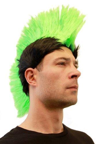 Carnaval: Perruque verte, style Punk, Mohawk, iroquois, anarchie