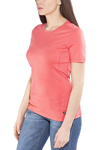 Odlo Natural T-Shirt Manches Courtes de Course à Pied Femme Dubarry/Grey Mélange