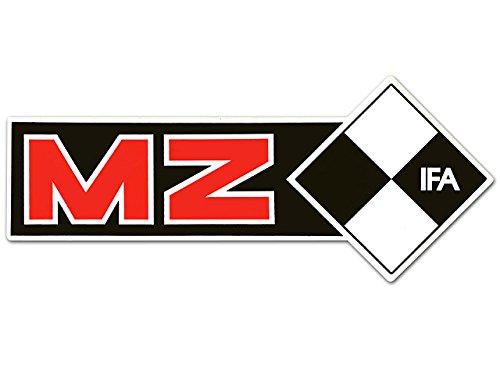 Schriftzug (Folie) IFA MZ rechte Seite* schwarz-rot-weiss (weißer Rand)