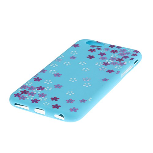 iPhone SE Coque,iPhone 5S Case,iPhone 5 Cover - Felfy Cas Ultra léger Mince Slim Gel Souple Soft Flexible TPU Silicone Fashion Couleurs de Bonbons Etui Couverture de Protection Bumper Anti Rayures Ant Bleu Prune Fleur