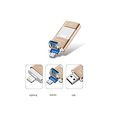 Kaulery Memoria USB 128 GB iPhone OTG Android iPad