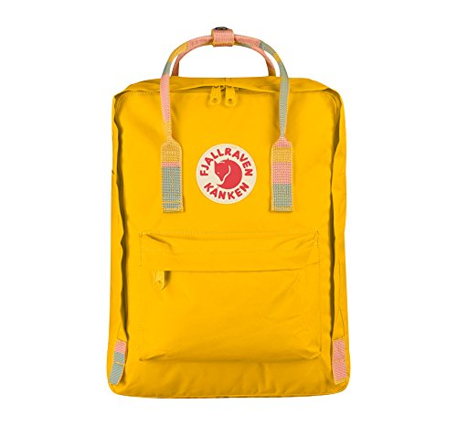Fjällräven Kånken Polypropylene (PP),Vinylon Blue,Pink backpack - backpacks (Polypropylene (PP), Vinylon, Blue, Pink, Monotone, Unisex, Front pocket, Side pocket, Zipper) giallo, giallo