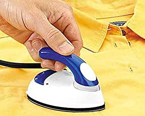 P YU Micro Mini Travel Compact Portable Electrical Clothes/Easy to Use Ironing Press Iron- Multi Color for Men's and Women