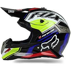 Qianliuk ABS Motobike Casco Cross-Country Motos Cascos personalidades Bicicleta de montaña Cascos Motocross Casco Adulto