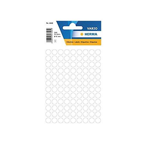 HERMA Vielzweck-Etiketten, Durchmesser: 8 mm, weiß,