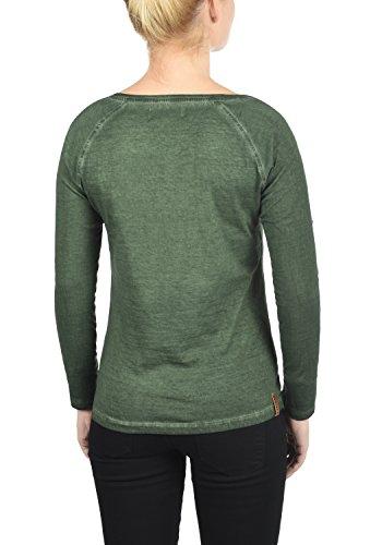DESIRES karola Damen Longsleeve Langarm Shirt Rundhalsausschnitt Aus 100% Baumwolle Climb Ivy (3785)