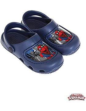 Spiderman Clogs / Sandalen für Jungen - Badeschuhe - Gr. 24-31
