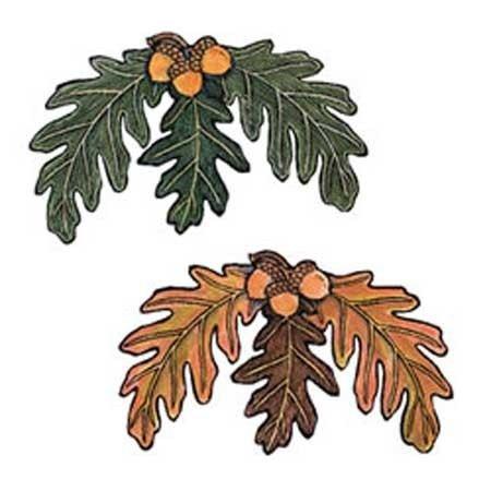 Wandaufkleber Wallies MotivSticker (Cutouts) Acorn & Oak Leaves Acorn Leaf