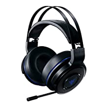 Razer Thresher 7.1 Casque Gamer sans fil pour Playstation 4 (PS4) Casque Gamer, Dolby Headphone avec son Surround 7.1 & Microphone numérique rétractable