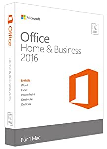 Microsoft Office Mac Home and Business 2016 (Product Key Card ohne Datenträger)