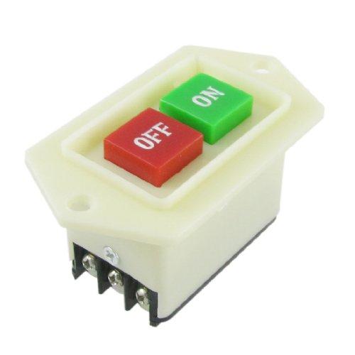 sourcingmap® Tischbohrmaschine Ein-Aus Druckknopf Schalter Druckschalter 3 Pole 5A/380VAC de