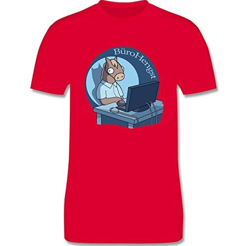 Statement Shirts - BüroHengst - Herren Premium T-Shirt Rot