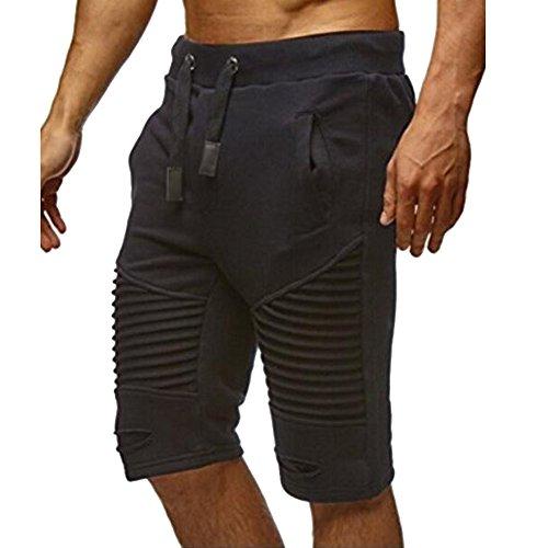 Preisvergleich Produktbild Bonboho Herren Shorts Streifen Kurzhose Sporthose Jogginghose Kordel Regular Fit Trainingsshorts Freizeithose Trainingshose