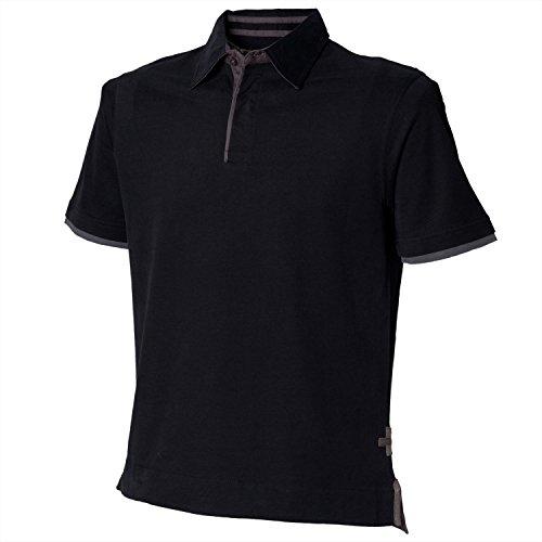 Front Row Herren Polo-Shirt, Kurzarm, besonders weich Navy