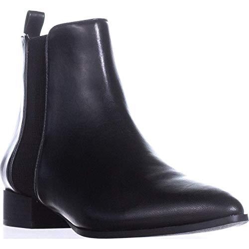 DKNY Frauen Spitzenschuhe Leder Fashion Stiefel Schwarz Groesse 6.5 US /37.5 EU