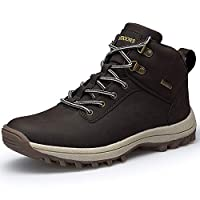 Men High Rise Outdoor Shoes Non-Slip Trekking Shoes Outdoor Shoes for Sport, Walking Climbing Trekking Brown 6.5UK