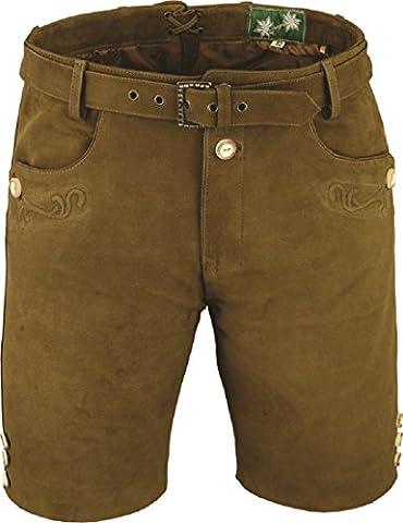 LederGwand - Pantalon en cuir - Salopette - Homme - marron - W50