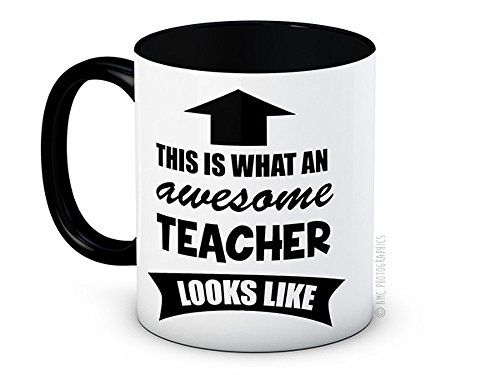 This is What an Awesome Teacher Looks Like - Funny Hochwertigen Kaffeetasse