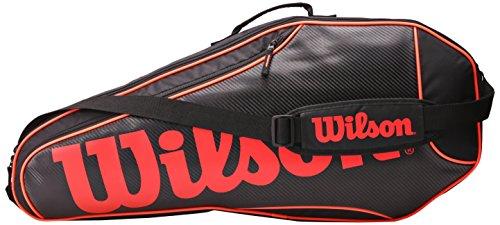 Wilson Erwachsene Sportsack Burn Team 6 PK BKOR, Schwarz/Orange, 76 x 10.2 x 33 cm, 26 Liter, 0887768343583