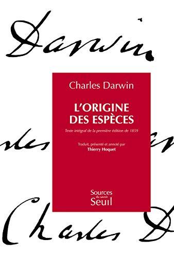 L'Origine des espèces. Texte intégral de la première édition de 1859 par Charles Darwin