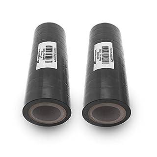 Isolierband 18mm 20x schwarz 10m je Rolle Klebeband Isolier band Isoband Universal selbstklebendes Klebe Band zum isolieren reparieren elektrischer Leitungen installation kfz ARLI 20 Stück
