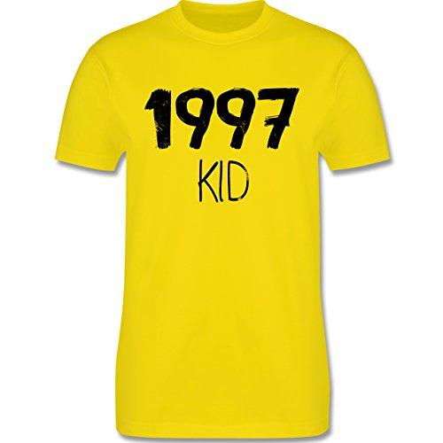 Geburtstag - 1997 KID - Herren Premium T-Shirt Lemon Gelb