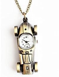 Maybesky Reloj de Bolsillo Retro del Cuarzo de los niños de Las Muchachas de los niños con el Regalo del cumpleaños de la Cadena Caja de Regalo para cumpleaños Aniversario día Nav