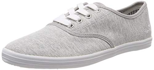 TOM TAILOR Damen 6992401 Sneaker, Grau (Jersey 02126), 38 EU