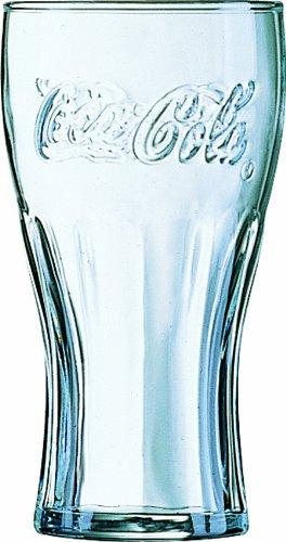12 Coca Cola Gläser Konturgläser Konturglas Ohne Füllstrich  Ca. 0,465 Liter Volumen 465 Ml