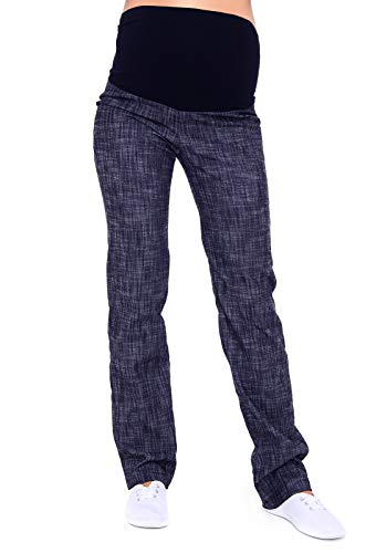 Mija - pantaloni / jeans classici taglio dritto denim over bump premaman 3014 (it 48, denim blu)