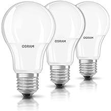 OSRAM ampoule LED E27 BASE Classic A / 9.5 W - Equivalence incandescence 60 W, ampoule LED forme classique / mat, blanc chaud - 2700K, lot de 3