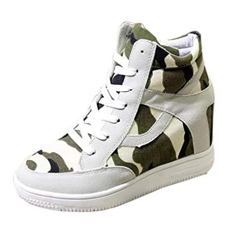 Baskets FantaisieZ Chaussures de Sport pour Femmes Classiques en Toile Respirante de Mode Augmente Grande Taille Sneakers pour Femmes Filles Etudiantes