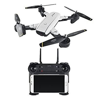 Goolsky SG700 RC Drone RC Quadcopter 2.0MP Camera Wifi FPV Foldable 6-Axis Gyro Optical Flow Positioning Altitude Hold Headless with Two Batteries