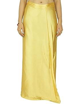 Forro ya hechas Inskirt para la seda de la enagua regalo Sari indio satinado para las mujeres