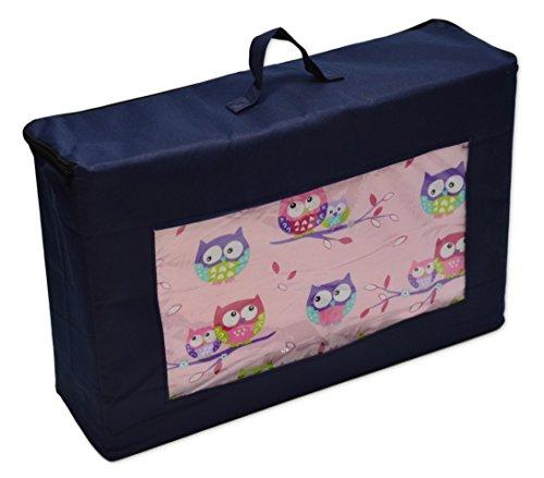 Best For Kids Matratze für das Reisebett 120 x 60 x 6 cm inkl.Transporttasche mit TÜV Kinder-Rollmatratze Kindermatratze in 3 Farben, Reisebettmatratze mit Tragetasche (Rosa)