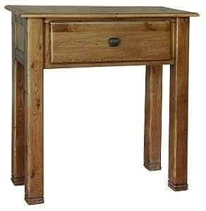 Tigre en bois petite table console 1tiroir chêne