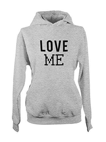Love Me Relationship Cute Femme Capuche Sweatshirt Gris