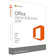Microsoft Office 2016 Home and Business (Produktkey ohne Datenträger per Post)