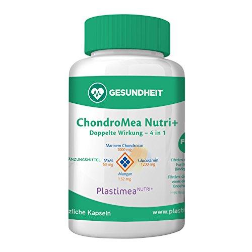 CHONDROMEA FORTE Gelenkkomplex – Gelenk Tabletten – gegen Gelenkschmerzen – die einzigartige 4in1 Kombi – Chondroitin, Glucosamin, MSM, Mangan – 120 hochdosierte Gelenkkapseln – Reinsubstanz ohne Zusatzstoffe