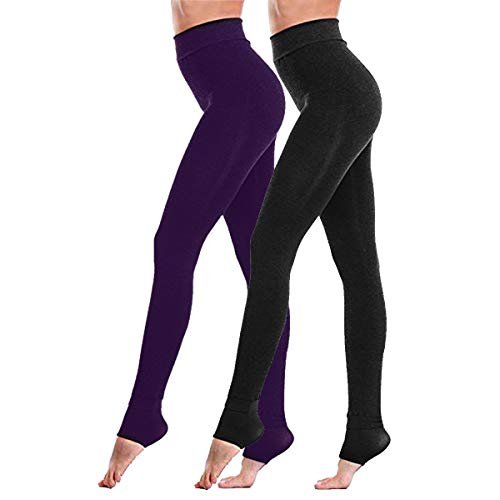 Fixget Leggings donna 2 paia di leggings invernali vita alta Leggings donna di potenza stretch gambali inverno super denso caldo velluto leggings