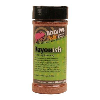 Dizzy Pig Bayouish Fusion Mischung aus Schwärzung und Barbecue Gewürz rub 8, die alle natürlichen Louisiana Cajun-Gewürze mischen (Grills Que Barb)
