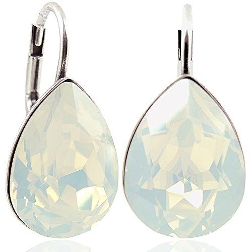 Ohrringe mit Kristallen von Swarovski® Silber White Opal -