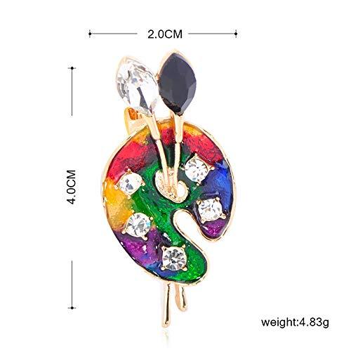 LBLFG Palette Brosche 珐 珐 Pin Kristall Schmuck weiblichen Künstler Hemd Strickjacke Dekoration Accessoires Geschenk
