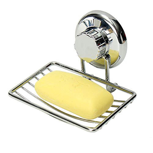 Soap Dish TAPCET Shower Soap Dish Suction Soap Dish Stainless Steel Soap Dish Holder No-Drilling Anti-Corrosion Soap Holder for Bathroom