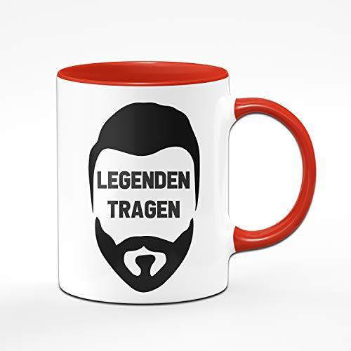 Tassenbrennerei Tasse Mit Spruch Legenden Tragen Bart
