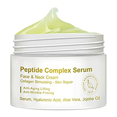 Peptide Complex Serum, Face & Neck Cream Collagen Stimulating Skin Repair, Anti-Aging Lifting, Anti-Wrinkle Firming (30g)